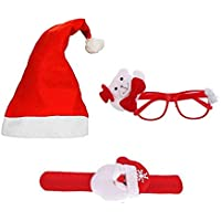 KRIWIN Christmas Accessories for Kids, Party, Decoration, Festival Fun (Cap Band Goggles)