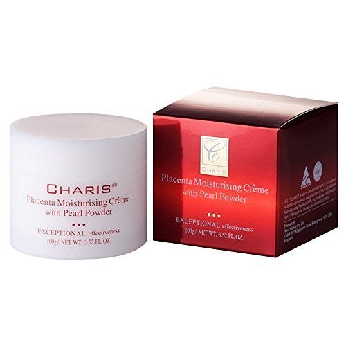 Charis Placenta Moisturising Creme with Pearl Powder Exceptional Effectiveness (100g) Day/Night Cream