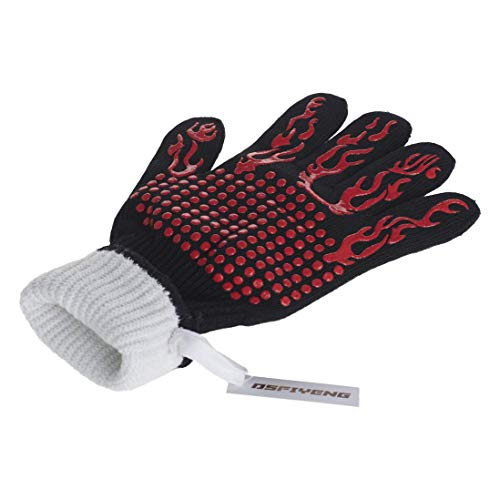 DsFiyeng BBQ Gloves Grill Gloves Oven Gloves 932°F for Cooking, Grilling, Baking- Grill & Kitchen Accessories by DsFiyeng (Image #3)'