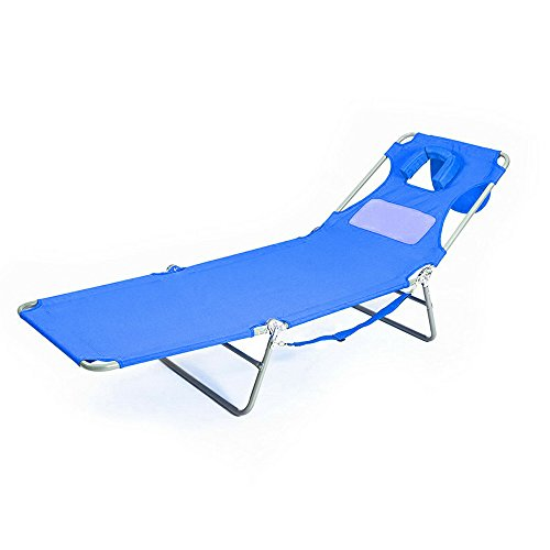 Outdoor Chaise Lounge Chair Bed Portable Folding Outdoor Bea