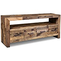 Crafters and Weavers Rustic Style Fulton TV Stand / Console Table - 65 inch