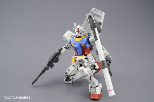 Bandai Hobby MG Gundam Rx-78–2 Version 3.0 Action Figure Modèle kit, échelle 1 : 100