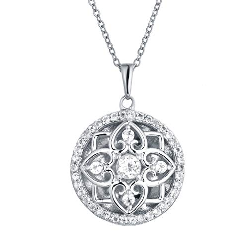 Heirloom Locket - With You Lockets-Fine Sterling Silver-Custom Photo Locket Necklace-That Holds Pictures for Women-The Elsie