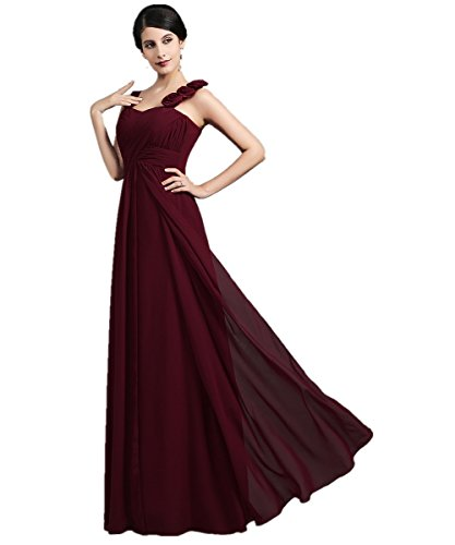 de noche XIAOMING largo Vestido para mujer dama Navy Blue honor de Elegantes la de q8FqX