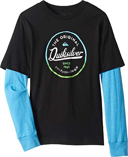 (Quiksilver Boys' Little Japan Circle TECH TEE, Black 7)
