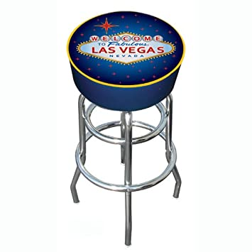 Las Vegas Padded Swivel Bar Stool