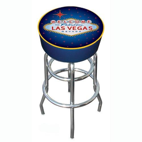Vegas Chrome Bar Stool (Las Vegas Padded Swivel Bar Stool)
