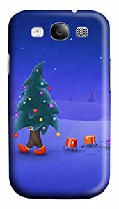 Walking Christmas Tree Custom Polycarbonate Hard Case Cover for Samsung Galaxy S3 SIII I9300