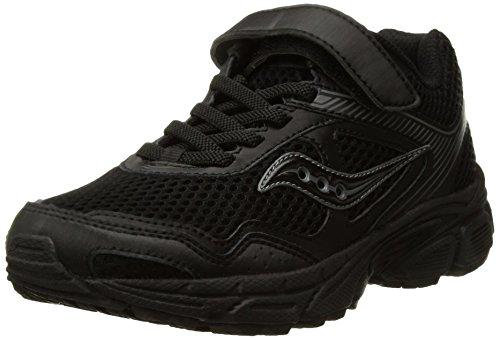 Saucony Cohesion 10 A/C Running Shoe (Little Kid/Big Kid), Black, 10.5 Medium US Little Kid