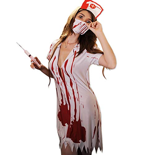 ROZZERMAN 좀비 간호사 코스프레 의상 할로윈에서 매년 인기최고인 코스튬 (남성용, 여성용)