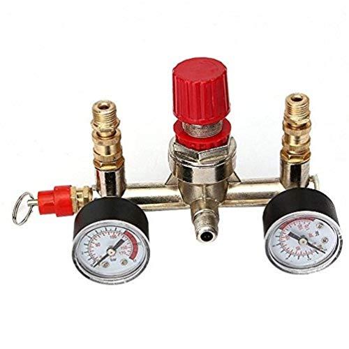 - Enshey Air Compressor Pressure Control Switch Valve Manifold Regulator w/Gauges Relief