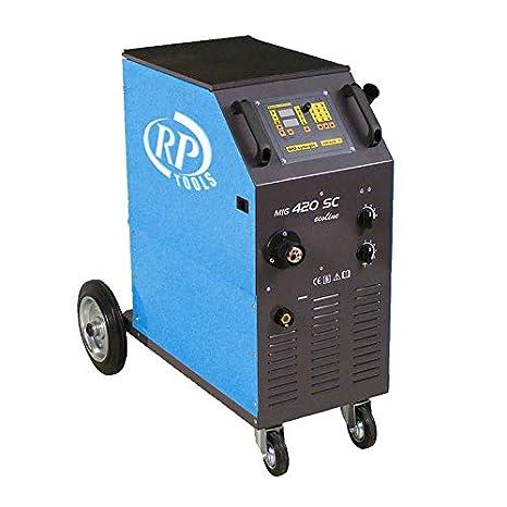 RP-TOOLS - Gas schw Hielo sgerät Soldador Mig mag luftgekühlt 30 - 420 A 3 x 400 V Digital 0.8 - 1.2 mm 4 Ruedas vorschub: Amazon.es: Coche y moto