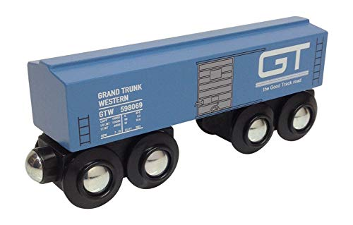 Choo Choo Track & Toy Co. Grand Trunk Western Boxcar Magnetic Wooden ()