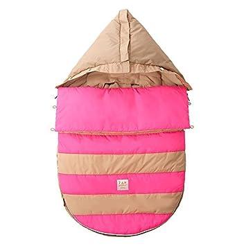 Amazon.com : 07 a.m. Abeja Pod bebé Bunting Bolsa para cochecitos y Car-Asientos con extraíble Panel posterior, Beige / rosado de neón, pequeño / medio : ...