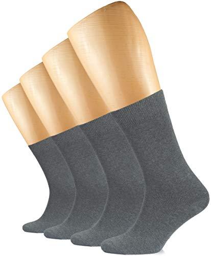 Hugh Ugoli Women's Cotton Dress Socks/Crew Women's Socks/Business Casual / 3 & 4 Pairs (Shoe size: 6-9, Gray)