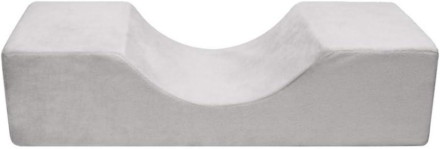 GCDN Extension Ciglia Cuscino Ergonomico Professionale Innestate Salone Poggiatesta Antiscivolo Forma a U Morbido Supporto Collo Trucco Attrezzi Impermeabile Supporto Free Size - Nero Nero