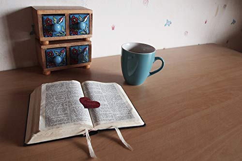 Home Comforts Canvas Print Read Bible The Heart of Coffee Cup Faith Bookmark Vivid Imagery Stretched Canvas 32 x 24