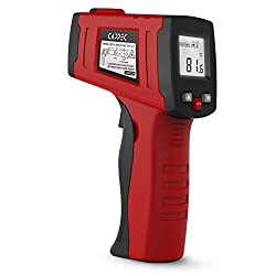 Cappec Irt001 Non Contact Laser Infrared Thermometer Temperature Gun With White Backlight 58°f 716°f 50℃~380℃ Red And Black