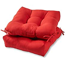 Amazon red patio chair cushions