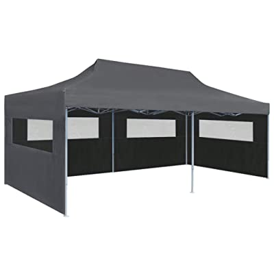 "vidaXL Folding Pop-up Partytent with Sidewalls 9'10""x19'8"" Anthracite: Garden & Outdoor"