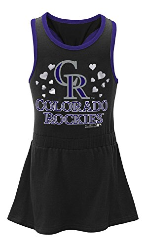 fan products of MLB  Colorado  Rockies Toddler Girls Criss Cross Tank-3T