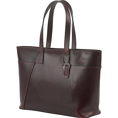 Claire Chase Women's Classic Zippered Tote Shoulder Bag, Chestnut Brown, One Size ()