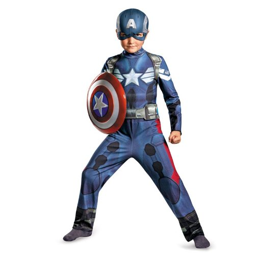 Captain America Classic Costume (Disguise Marvel Captain America The Winter Soldier Movie 2 Captain America Classic Boys Costume, X-Small (3T-4T))