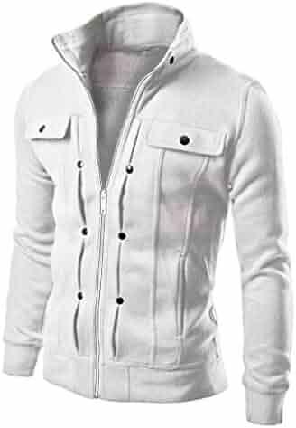 Makulas Mens Loose Hooded Coats Winterjacket Mens Zip Pocket Jackets Outwear Letter Print Parka Outdoor Sport Coat