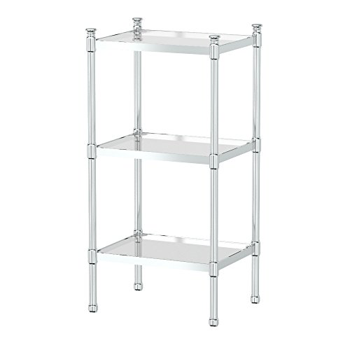 Gatco 1351 3-Tier Rectangle Taboret in Chrome by Gatco