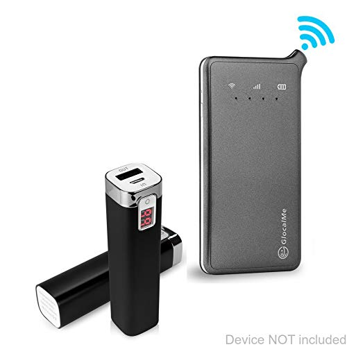 U2 Global 4G Wi-Fi Hotspot Charger, [Rejuva Power Pack] 2600 mAh Compact Portable Power Bank Charger for Roaming Man U2 Global 4G Wi-Fi Hotspot - Jet Black ()
