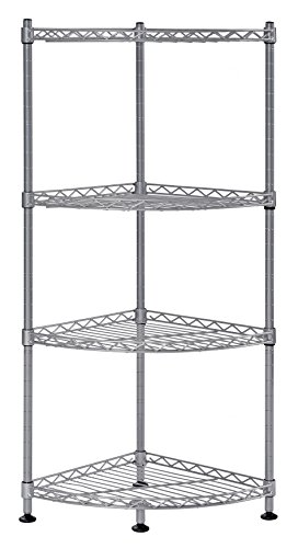 Muscle Rack WSCR121235-4S 4-Shelf Steel Wire Corner Shelving Unit, 12