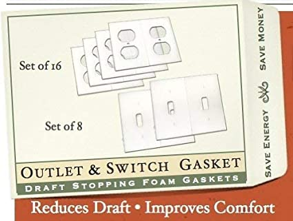 Gasket Covers Electrical Outlet /& Light Switch Plate Draft Stopper Foam Gaskets 1
