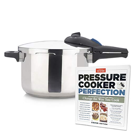 Zavor ZPot 6.3 Quart 15-PSI Pressure Cooker and Canner with America's Test Kitchen Pressure Cooker Perfection Cookbook