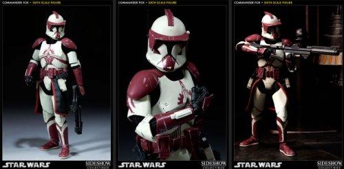 - Sideshow Star Wars Clone Commander Fox Sixth Scale Figure Comic-Con 2012 Exclusive