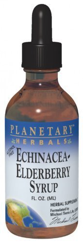Planetary Herbals Echinacea-Elderberry Syrup , 4 fl oz (128.28 ml) by Planetary Formulas