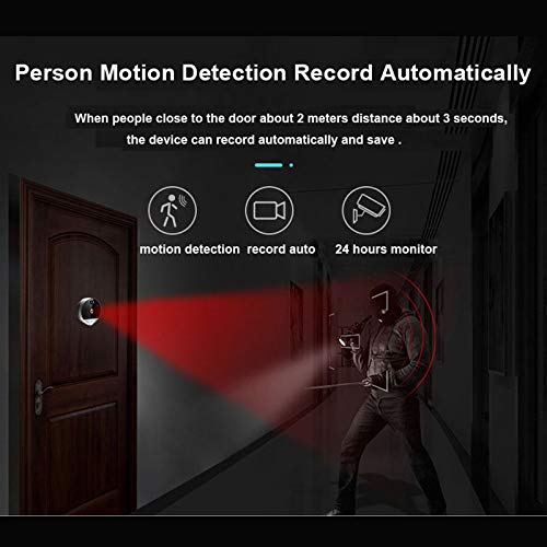 Nrpfell 1080P Digital Peephole Viewer Home Security Doorbell Support Max 32Gb 170 Viewing Angle Motion Detection by Nrpfell (Image #4)
