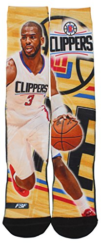 Los Angeles Clippers 308S Center Court Chris Paul Mens Sublimated Socks, Multi, Large