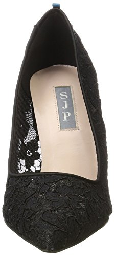 SJP by Sarah Jessica Parker Women's Fawn Closed-Toe Pumps Black (Lace Col 1) 3pZzJoJ
