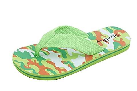 StarBay Brand New Kid's Slip-On Flip Flop (1, Green) (Green Flip Flops)