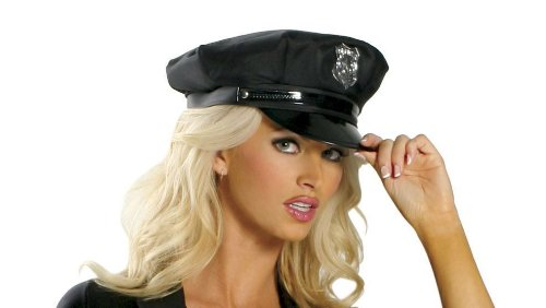 [Roma Costume Cop Hat Costume, Black, One Size] (Costumes For Women Cop)
