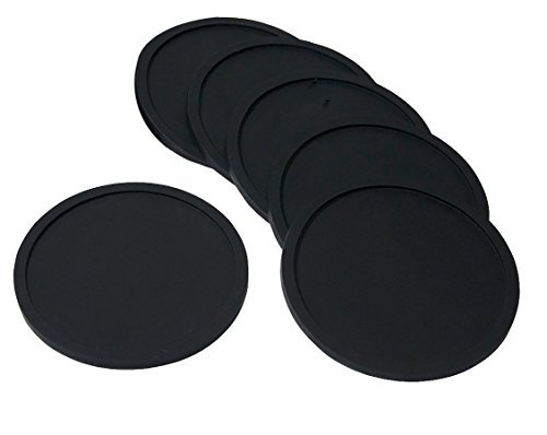 Premium Silicone Drink Coasters - 6 Pack - Great Grip And Easy To Clean - Protects Your Furniture - Spill Tray To Catch Condensation - For Coffee Cup, Wine Glass, Beer Bottle And All Other Beverages