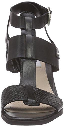 Clarks Image Crush - Sandalias de tobillo Mujer Negro (Black Leather)