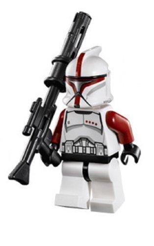 Lego Star Wars Minifigure Red Clone Trooper Captain from Republic Gunship (75021)