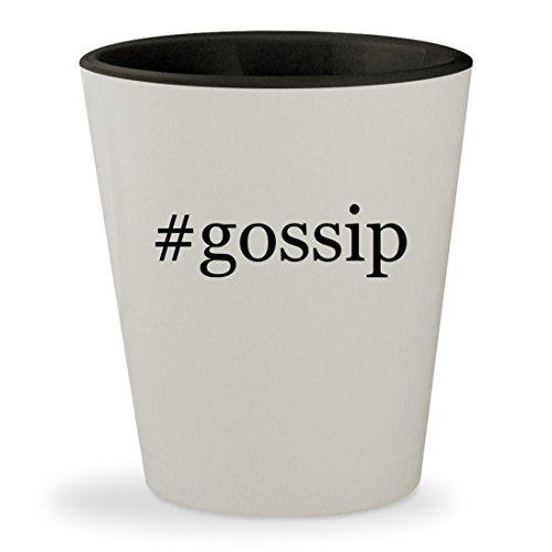 Gossip   Hashtag White Outer   Black Inner Ceramic 1 5Oz Shot Glass