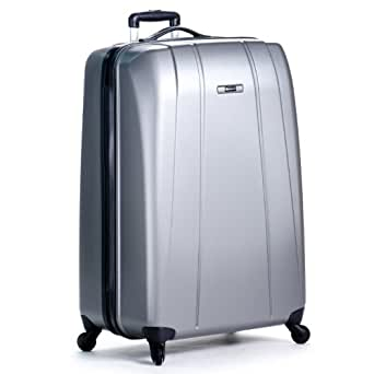 Delsey Luggage Helium Shadow Lightweight 4 Wheel Spinner, Platinum, 29 Inch