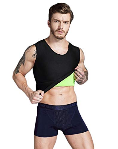 Hot Mens Body Building Sauna Tank Top Fat Burning Workout Sweat Vest to Lose Weight by Wonder Shaper