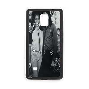 Sexyass Whitney Houston Samsung Galaxy Note 4 Case Whitney Houston & Michael Jackson, {Black}