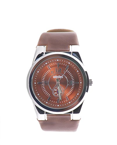 UNLISTED WATCHES Men's UL1131 City Streets Round Brown Dial Brown Strap Watch