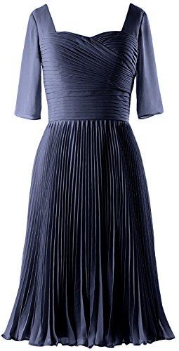 Blu Macloth Vestito Donna Senza Ad Dunkelmarine Maniche Linea A wvqSwP60