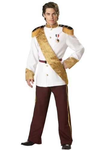 [InCharacter Costumes, LLC Men's Prince Charming Costume, White, X-Large] (Prince And Princess Costumes)